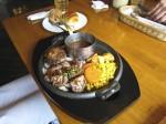 サイコロビーフ&ハンバーグセット 2,200円